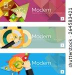 modern flat design infographic... | Shutterstock .eps vector #264583421
