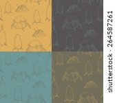 set of 4 seamless textures ... | Shutterstock .eps vector #264587261