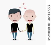 gay couple illustration | Shutterstock .eps vector #264587771