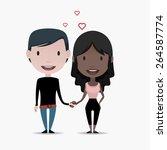 couple illustration | Shutterstock .eps vector #264587774