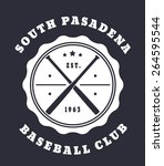 south pasadena baseball club... | Shutterstock .eps vector #264595544