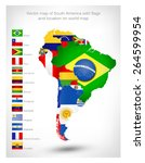 vector map of south america... | Shutterstock .eps vector #264599954