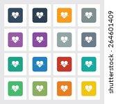 very useful flat icon of heart...