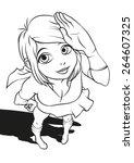 japanese cartoon style...   Shutterstock .eps vector #264607325