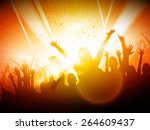 party people in club   vector... | Shutterstock .eps vector #264609437