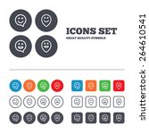 happy face speech bubble icons. ...   Shutterstock .eps vector #264610541