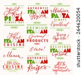 set of italian food labels | Shutterstock .eps vector #264620054