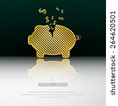 gold piggy bank. vector...