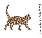 cat handwriting picture   Shutterstock .eps vector #264625691