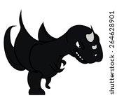 cartoon illustration of dragon | Shutterstock . vector #264628901