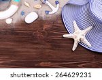 travel accessories on wooden...   Shutterstock . vector #264629231