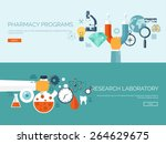 medical flat vector background... | Shutterstock .eps vector #264629675