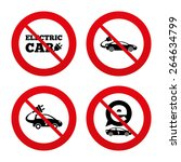 no  ban or stop signs. electric ... | Shutterstock .eps vector #264634799