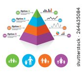 pyramid chart template. family... | Shutterstock .eps vector #264635084