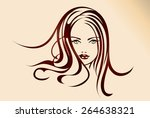 illustration of a beautiful... | Shutterstock .eps vector #264638321