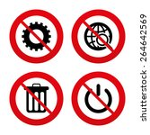 no  ban or stop signs. globe... | Shutterstock .eps vector #264642569