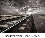 Empty Railway Tracks In A...