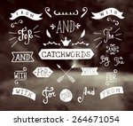 a set of hand drawn catchwords...   Shutterstock .eps vector #264671054