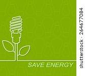 energy saving fluorescent light ... | Shutterstock .eps vector #264677084