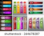 colorful modern text box... | Shutterstock .eps vector #264678287