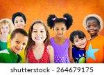 diversity children friendship...   Shutterstock . vector #264679175