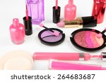 different cosmetics isolated on ... | Shutterstock . vector #264683687