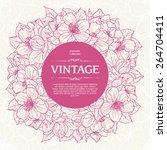 vintage ornamental frame floral ... | Shutterstock .eps vector #264704411