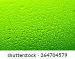 Green Water Drop Background