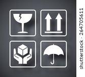 vector packaging symbols   Shutterstock .eps vector #264705611