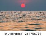 beautiful sunset at the sea | Shutterstock . vector #264706799