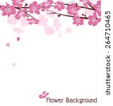 branches with pink flowers... | Shutterstock .eps vector #264710465