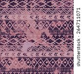 seamless pattern in tribal... | Shutterstock .eps vector #264711071