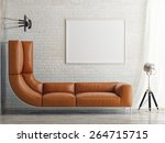 lack of space  bed and mock up... | Shutterstock . vector #264715715