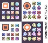 flat vector web buttons set