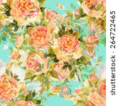 seamless pattern bouquet of... | Shutterstock . vector #264722465