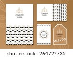 set of business card and... | Shutterstock .eps vector #264722735