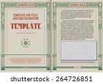 template booklet in vintage... | Shutterstock .eps vector #264726851