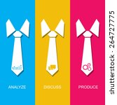 management concept with tie and ... | Shutterstock .eps vector #264727775