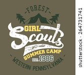 girl scouts summer camp  t... | Shutterstock .eps vector #264731741