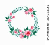 floral frame.  a wreath of... | Shutterstock .eps vector #264733151