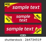 set of promotional stickers... | Shutterstock .eps vector #264734519