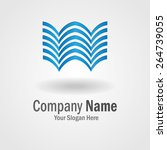 abstract blue logo for building ... | Shutterstock .eps vector #264739055