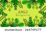 decorative jungle | Shutterstock .eps vector #264749177