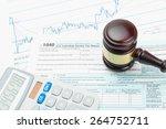judge's gavel and calculator... | Shutterstock . vector #264752711