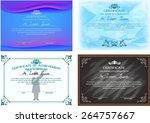 set of certificate design... | Shutterstock .eps vector #264757667