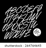 calligraphic alphabet. design...   Shutterstock .eps vector #264764645