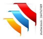 corner ribbons set   Shutterstock .eps vector #264767489