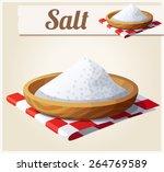 salt. detailed vector icon.... | Shutterstock .eps vector #264769589