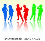 happy dancing children together | Shutterstock .eps vector #264777131