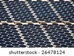 Closeup view of solar panels - stock photo
